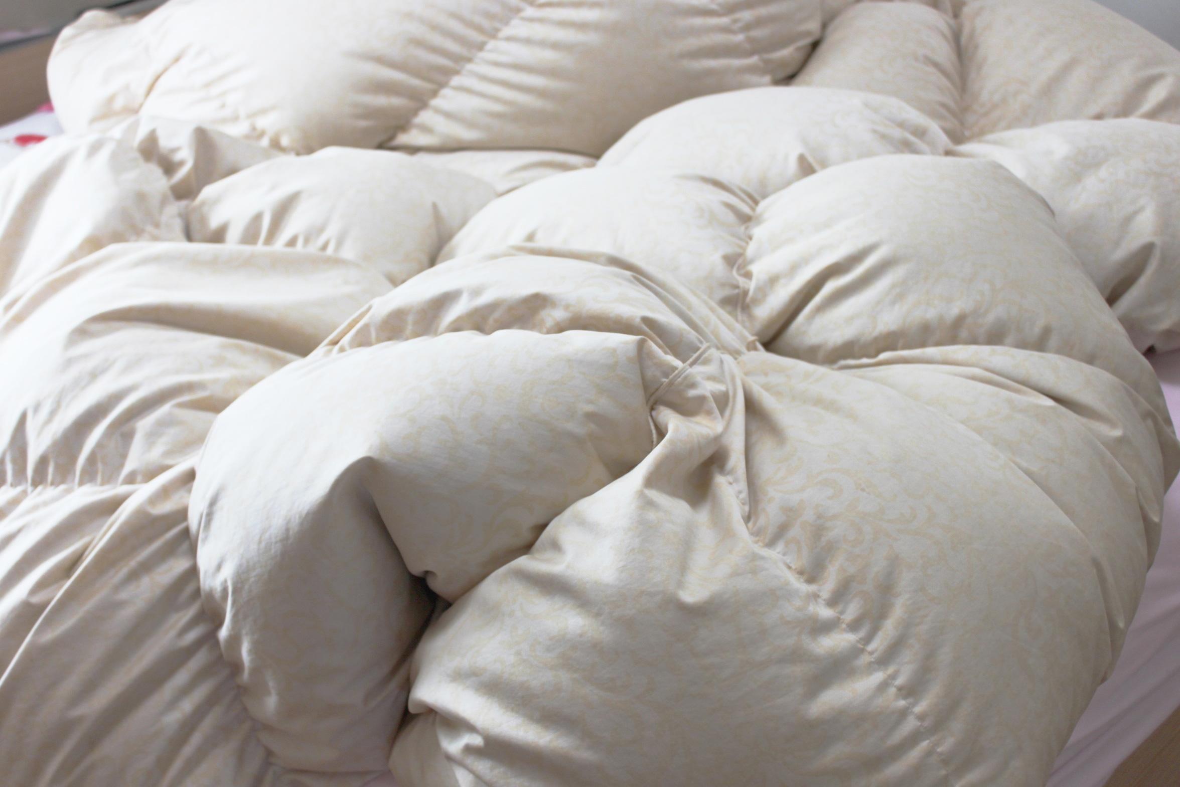 羽毛布団もOK、水洗い・高温乾燥でふんわりフカフカ、清潔に!